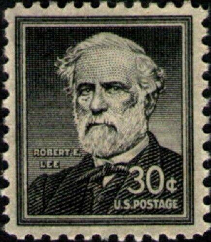1955 30c General Robert E. Lee, Civil War Scott 1049 Mi