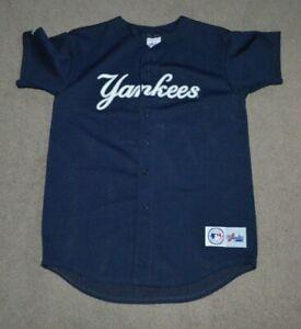 sale retailer 17ec4 365b0 Details about Vtg Derek Jeter New York Yankees Majestic Baseball Jersey S/M