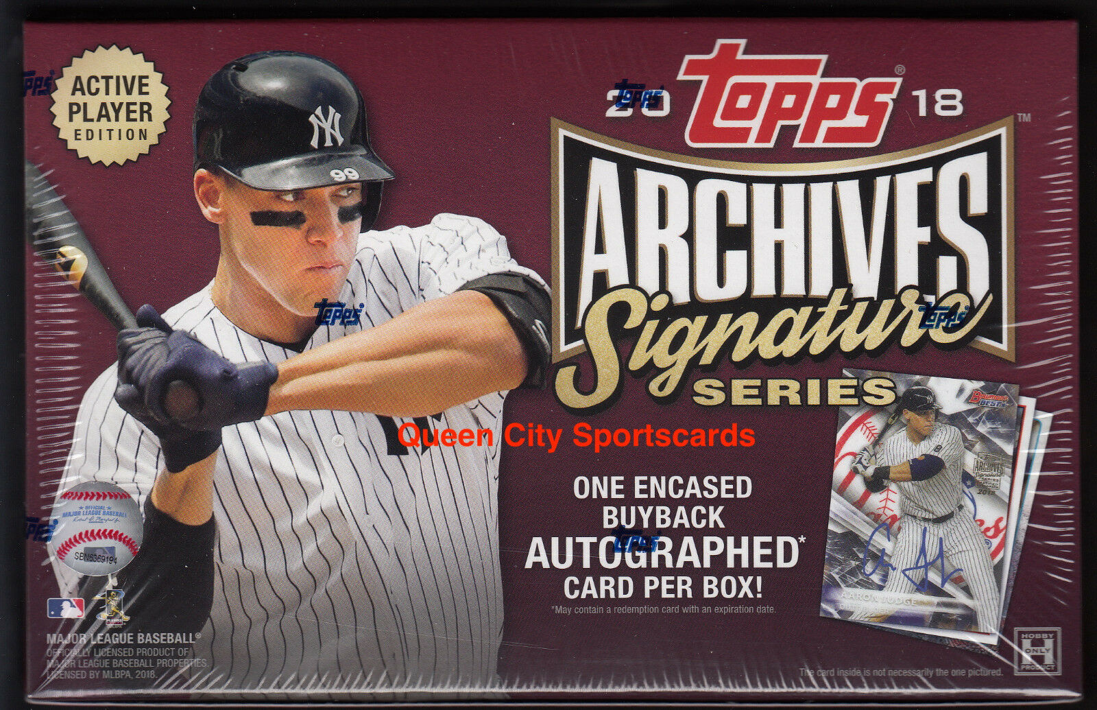 2018 Sealed Topps Archives Signature Series Active Baseball Factory Sealed 2018 Hobby Box 190244