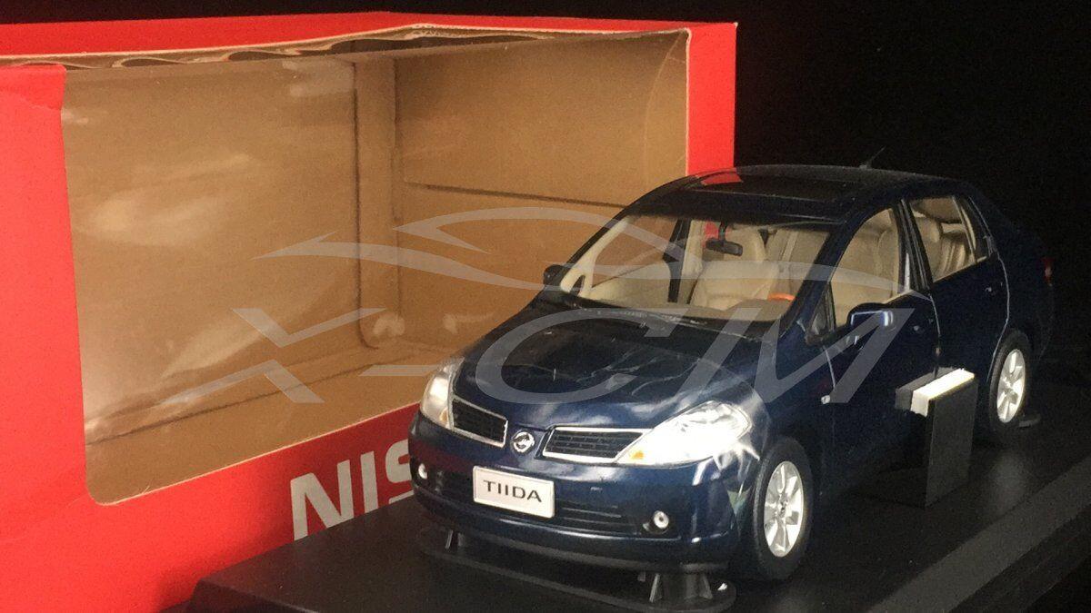 Diecast Car Model Nissan Old Tiida Yida Sedan 1 18 (Dark bluee) + GIFT