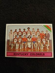 1975 Topps Kentucky colonels team checklist basketball card #323 NM