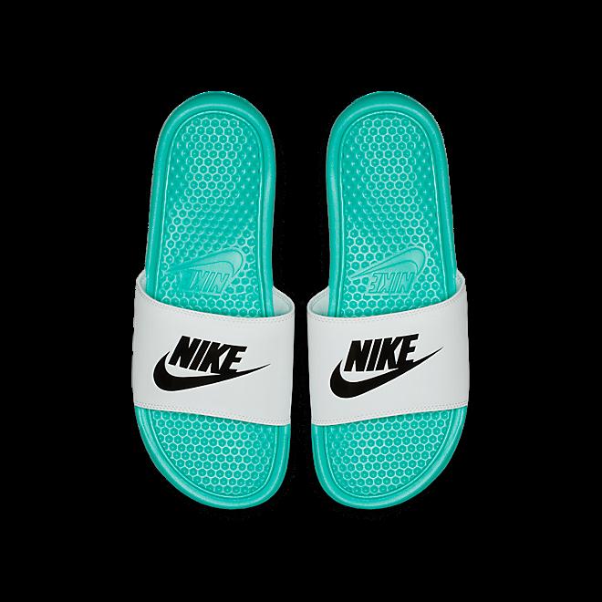 Nike Benassi Unisex JDI Slider Slip On Beach Pool Sandals Hyper Jade White Black