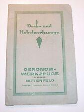 Broschüre Dreh - u Hobelwerkzeuge Oekonom Werkzeuge Bitterfeld um 1910 !