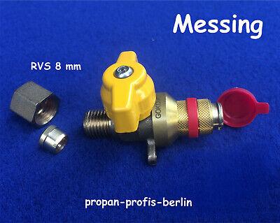 Mutter Messing GOK 6 Stück für 8 mm Kupferleitung