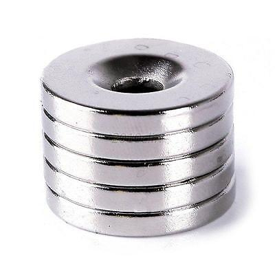 5x Strong Neodymium Magnets Disc Rare Earth Fridge Magnet 20x3mm Hole 5mm N50