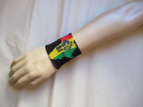 Bande poignet Africa Afrique élastique éponge wristband sweat band sport /& mode