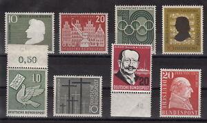 BRD-Lot-aus-den-50er-Jahren-8-Marken-mit-Falz-ansehen-MW-7-Q64-2