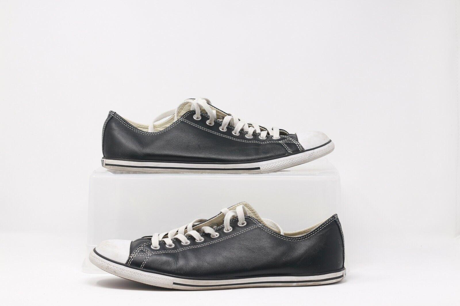 Converse negro blancoo low leather Talla 12