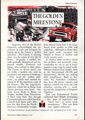 "Art 1958 International Harvester Ad A3 Canvas Print Poster 16.5""x11.7"""
