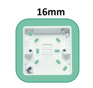 25mm 2 gang surface monté double prise électrique Pattress back box blanc
