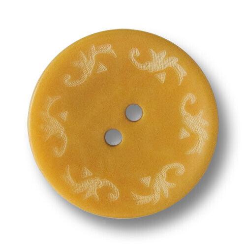 5 hermosa 3565ge senfgelb teñidas steinnussknöpfe con patrones Trachten