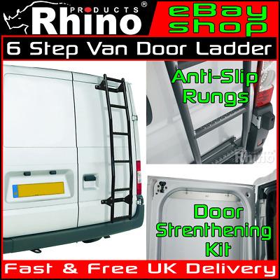 H1 Low Renault Trafic Rhino Rear Door Van Ladder 6 Step Anti-Slip 2001-2014