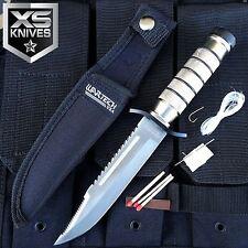 """WARTECH 9"""" Heavy Duty Stainless Steel Serrated Blade Survival Knife W/ Kit"""