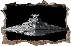 wandaufkleber loch in der wand 3d star wars aufkleber wandtattoo 50 ebay. Black Bedroom Furniture Sets. Home Design Ideas