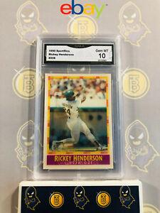 1990-Sportflics-Rickey-Henderson-208-10-GEM-MT-GMA-Graded-Baseball-Card