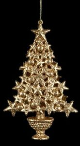 KURT S. ADLER GOLDEN SPLENDOR GOLD GLITTER CHRISTMAS TREE ...