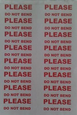 """80 ADESIVI di grandi dimensioni /""""per favore non piegare/"""" testo"""