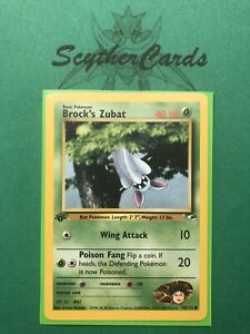 NM Brock's Sandshrew 1st Edition Gym Heroes Common Pokemon Card Sleeve 72//132