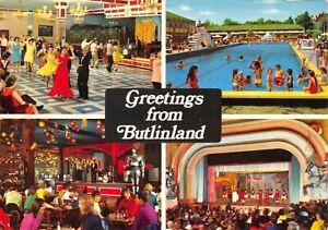 Vintage-1977-Sussex-Multi-View-Postcard-Greetings-from-Butlinland-Butlins-FY8