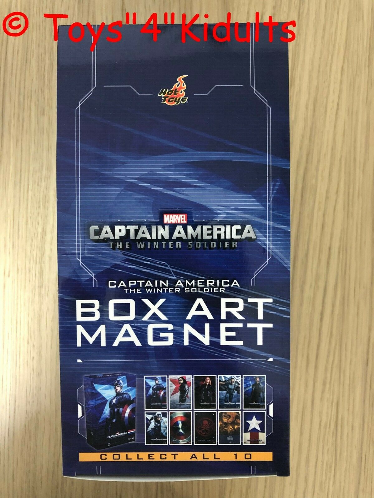Hot Toys Captain America The Winter Solider Box Art Magnet Box 10 of Set NEW