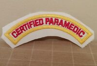 Certified Paramedic Embroidered Patch Ambulance Red & Yellow