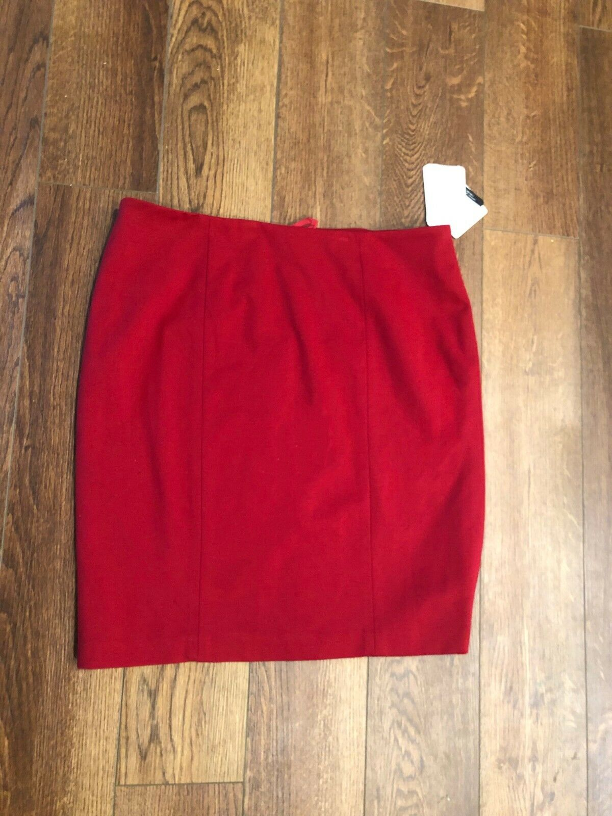 DONCASTER Red Below Knee SKIRT  220 BRAND NEW