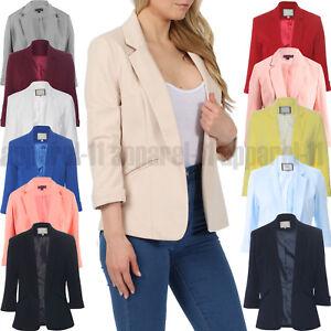 Damen-Damen-Maedchen-Promi-Inspiriert-Tailored-Blazer-Kragen-Jacke-Mantel-UK-8-16