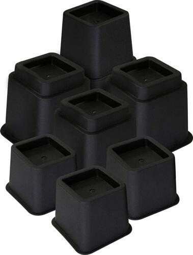 Lot de 8 Rehausseur Pieds de Lit Elevateur 13 a 23 cm Pied de Meuble Reglable