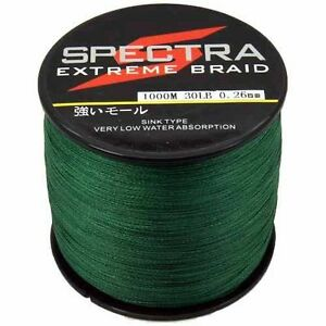 Moss Green Braided Line Spectra PE Fishing Line Super Dyneema 300/500/1000M