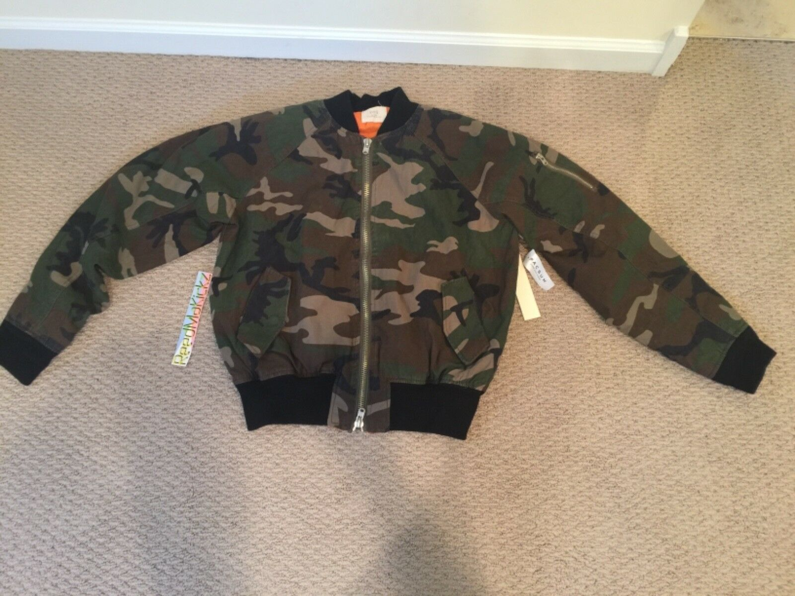 Fear of God FOG Bomber Camo Camouflage Collection one 2015-2016 100% AUTHENTIC