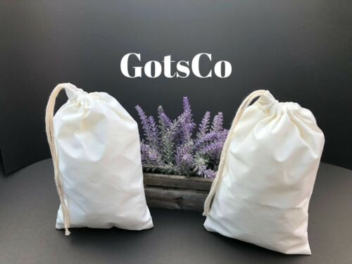 """Size 5/""""x7/"""" inches Natural Cotton Muslin bags *Eco-Friendly* Choose from QTY"""