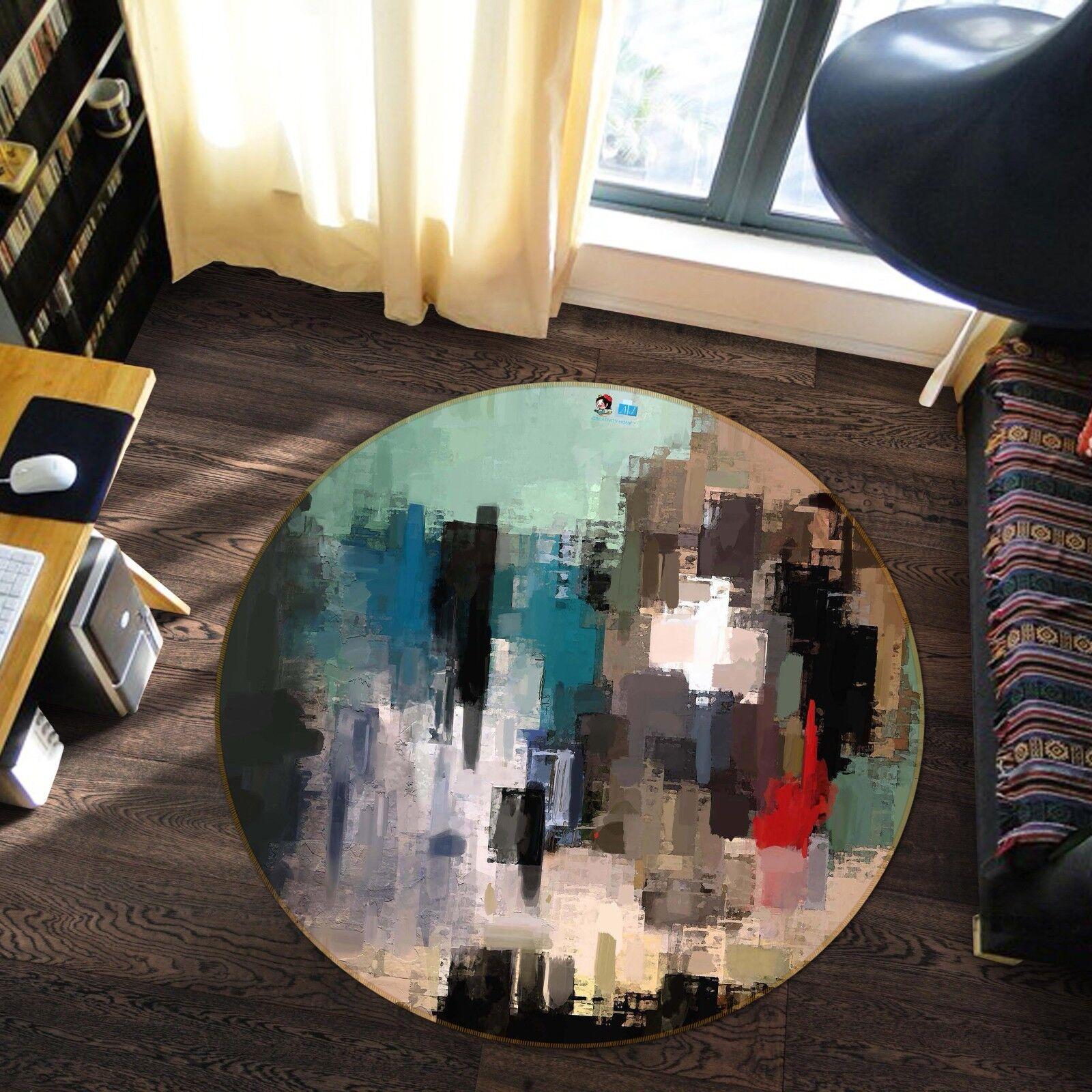 3D Painting Art 6 Non Slip Rug Mat Room Mat Round Elegant Photo Carpet US Summer