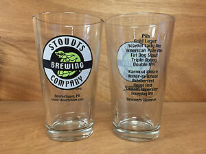 Stoudts Stoudt's Brewing Company 16oz. Pint Glasses - Set of 2 - New