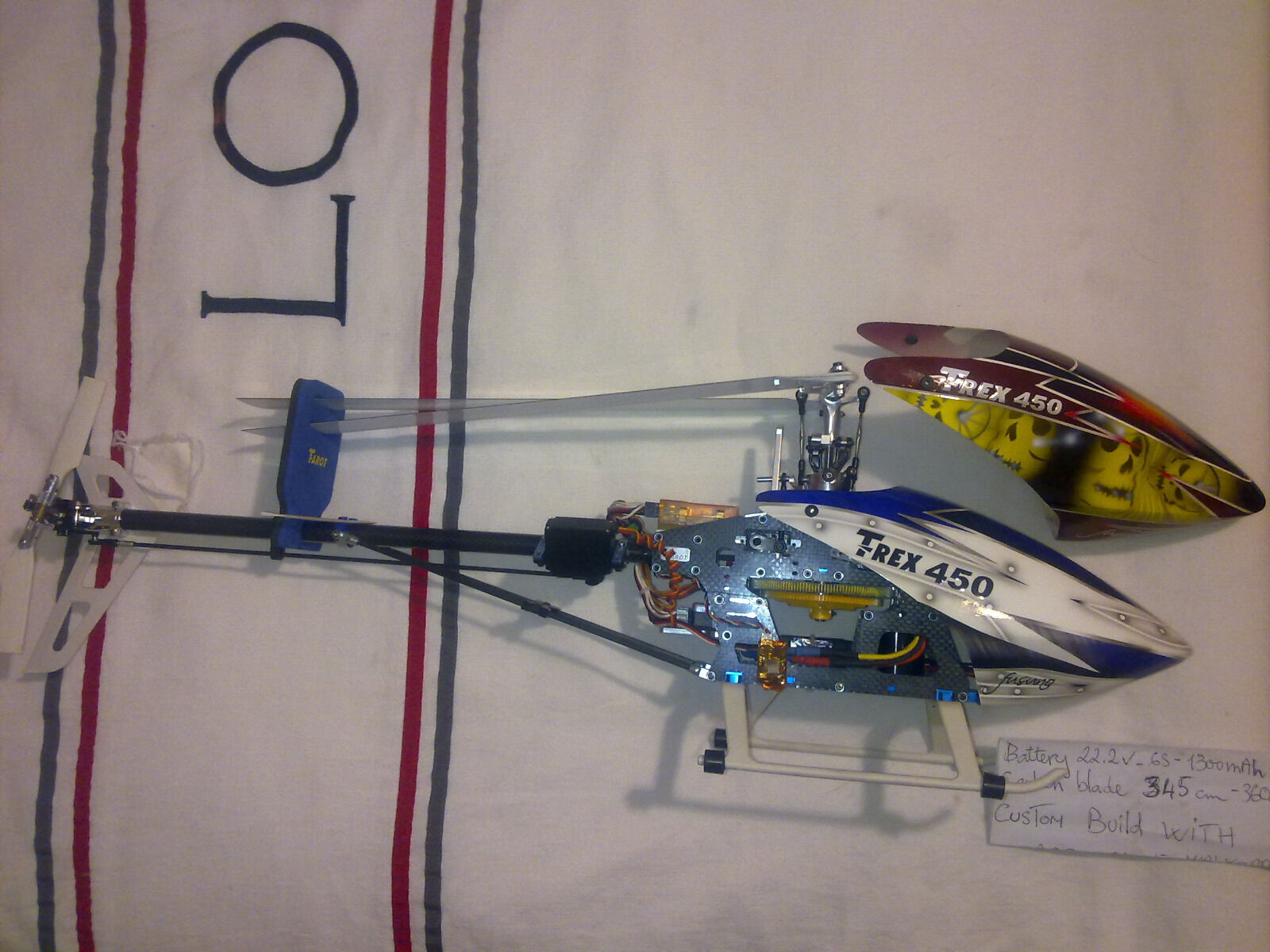Align Clone 450 Sport (FBL) with full aluminium upgrade - Most ready to fly