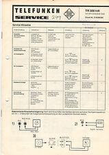 TELEFUNKEN Service Manual Anleitung TR 300 hifi mit Chassis 1000   B1503