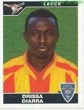 DRISSA DIARRA IVORY COAST US.LECCE RARE UPDATE STICKER CALCIATORI 2005 PANINI