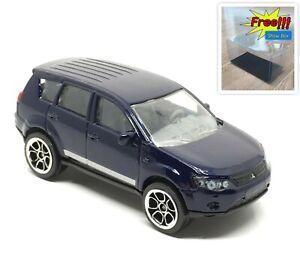 Majorette-Mitsubishi-Outlander-Blue-SUV-1-64-292G-no-Package-Free-Display-Box