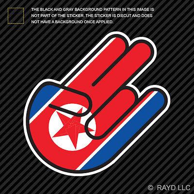 North Korean Emblem Sticker Decal Vinyl North Korea flag PRK PK