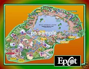 Flexible Fridge MAGNET of Disney - EPCOT MAP | eBay on