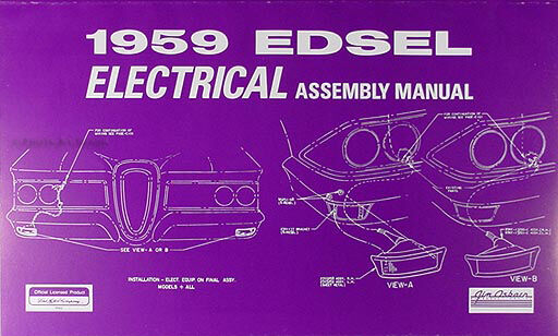 1959 Edsel Electrical Assembly Manual Wiring Diagrams 59