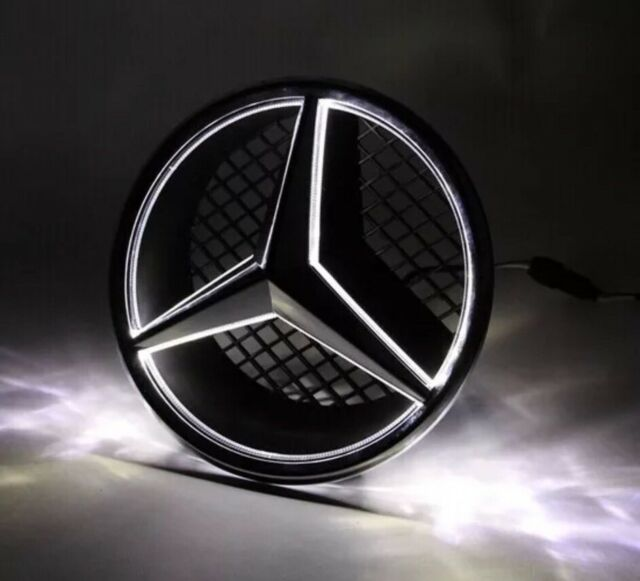 Led Light Front Grille Grill Star Emblem Illuminated For Mercedes