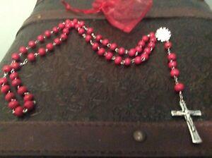 Medjugorje-Priest-Fr-Miljenko-Steko-Blessed-Rosary-6-25-18-red-beads