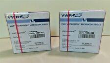 Vwr Vistavision Microscope Slides 16004 422 Two Boxes 144 Slides