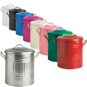 15l 15 litre colour mini metal bin small dustbin rubbish bathroom toy storage ebay. Black Bedroom Furniture Sets. Home Design Ideas