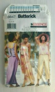 Butterick-6647-Misses-Top-Skirt-Pants-Sewing-Pattern-Size-12-16-OOP-UNCUT