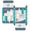 miniature 4 - 12 DEL capteur de mouvement Éclairage PIR sans fil lumière nuit USB Armoire Escalier Lampe
