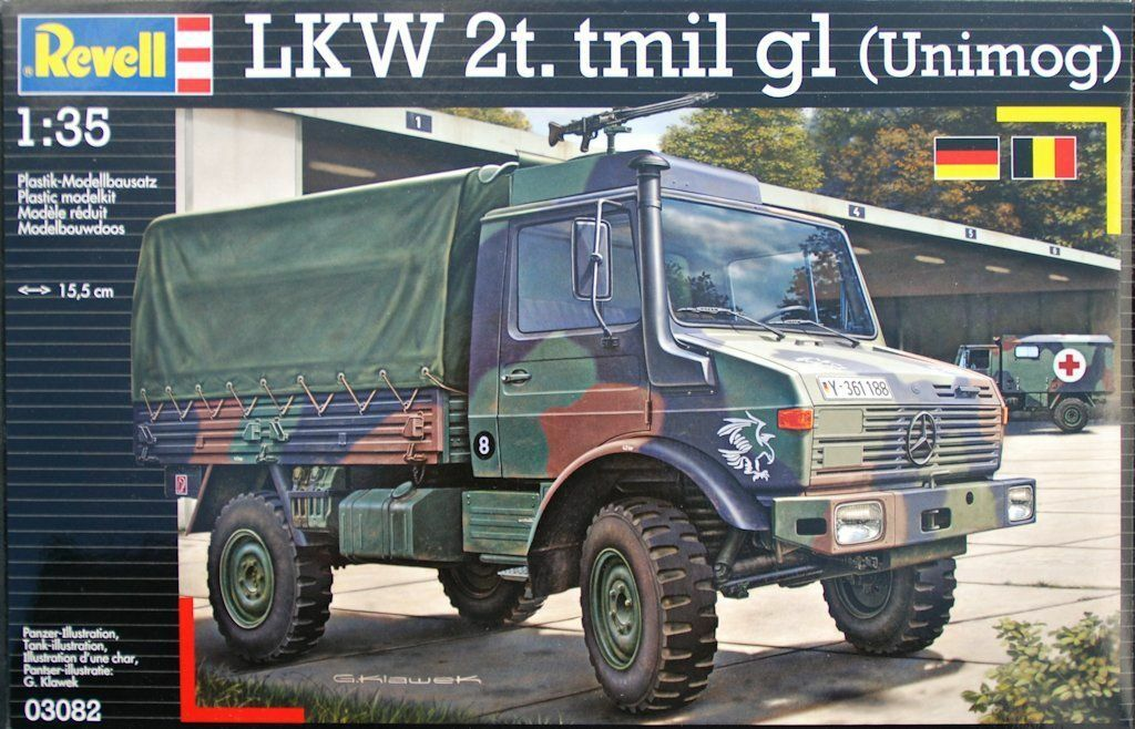 Revell 1 35 LKW 2t. tmil gl (Unimog)