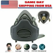 Safety Gas Mask Respirator Half Face Protect For Painting Spraying Facepiece Us