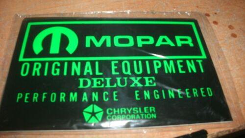 1960/'s DODGE PLYMOUTH IMPERIAL CHRYSLER MOPAR ORIGINAL EQUIPMENT BATTERY DECAL