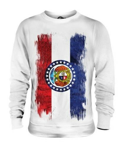 Missouri State Grunge Flag Unisex Pullover Top Missourian Hemd Trikot Geschenk
